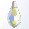 Swarovski Drop 6000 15x7.5mm Aurora Borealis Crystal